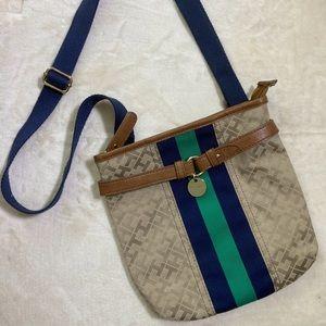 Tommy Hilfiger Square Stripe Crossbody Bag Purse